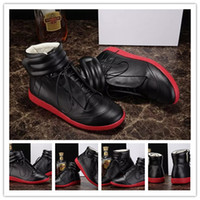 MEN SNEAKER - Maison Martin Margiela Future Kanye West Sneakers High Top Luxuries Genuine Leather Men s Fashion Casual Shoe Black Red