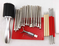 leather tools - 26 LEATHER STAMPING DIY TOOLS SET CRAFT TOOL KIT FOR LEATHER PRACTICAL