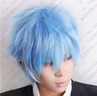 Wholesale cheap Kuroko s Basketball Kuroko Tetsuya Ice Blue Cosplay Short Wig Postage Free