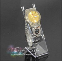 Jewelry Stand watch display stand - Hot sale L type Clear Acrylic Watch Display Rack Jewelry Bracelet Watch Stand Holder Rack pieces