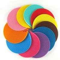 amazing cushions - Amazing Durable Silicone Round Non slip Heat Resistant Mat Coaster Cushion pads Placemat Pot Holder Assorted colors