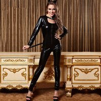 Wholesale Cat Girl Pole Dancing Costumes Black Leather Size Piece Dress Teddy Dance Clothes Sexy Temptation B