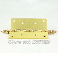 Wholesale brass Hinges for timber door Metal Door mm thickness Low Noise claret red Color