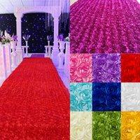 wedding rose petals cheap - 2015 Wedding Decorations Cheap D Rose Petal Carpet for Wedding Background Aisle Runner m Width Wedding Supplies