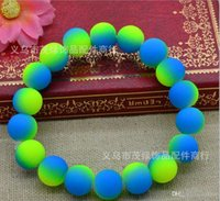 Wholesale Color Beads handcraft jewelry Bracelet fluorescence Disco Shamballa Ball stand stretch bracelets Best saller