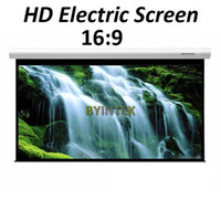 best electric projector screen - Best Matte White inch Electric Motorized Projection HD LCD LED DLP Projector Screen Remote Control