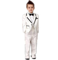 baby wedding attire - 2015 Autumn NEW Boys White Tuxedos Wedding Attire Baby Boy Dress Clothes Wedding Boys Wedding Suits Coat Pants Tie