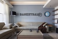 basketball quotes - BASKETBALL home decoration wall art decals quote boys room decoration wallpaper bedroom decor