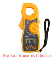 Wholesale Portable pocket sized digital clip on multimeter display clip on table voltage current resistance MT87