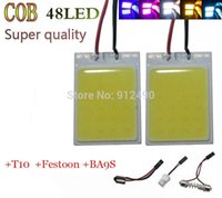 Wholesale 2PCS W COB Chip LED led smd Car Interior Light T10 Festoon Dome Adapter V Panel light smd led