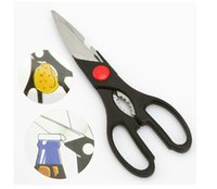 nutcrackers - Multifunction scissors Knives stainless steel kitchen shears bottle opener nutcracker good kitchen helper cooking tools