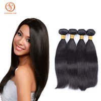 Wholesale Grade A Brazilian Human Hair Extensions Straight Hair Weave Unprocessed Malaysian Indian Peruvian Mongolian European Hair Double Wefts