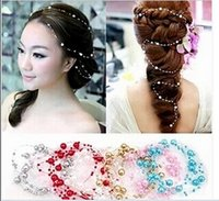 ball connection - 2016 New Trendy Tiaras Hair Accessories Bridal Jewelry Wedding Dress Accessories Pearl Headdress Connection