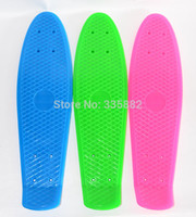 Wholesale wheel skateboard deck skate board skateboard deck PP plastic board single rocker board deck only pieces