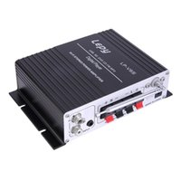 Wholesale 13 V A Hi Fi Stereo Car Amplifier Digital Audio Remote Heavy Bass Radio Motorcycle Speaker Booster with Power Adapter US Plug
