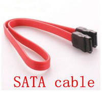 Wholesale 2015 New SATA serial hard drive DATA cable SATA cable for desk computer PC SATA cable pc