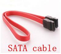 Wholesale 2015 New SATA serial hard drive DATA cable SATA cable for desk computer PC SATA cable pc