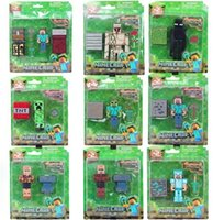 Wholesale Hot Minecraft Action Figures Toys Set For kids Gift High Quality with retail Package