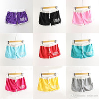 Wholesale 2016 new Candy colors Shorts Thin casual sports shorts for women girls Beach Shorts Sportswear clothes spring summer hot