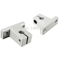 aluminum shaft bearing - SALE New x SK8 mm Bearing CNC Aluminum Linear Rail Motion Router Shaft Guide Support XYZ