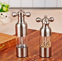 Wholesale Stainless Steel Pepper Manually Operation Grinder Chili Mills Cinnamon and Chocolate Mills Beer Bottle Bowling Tap Shape