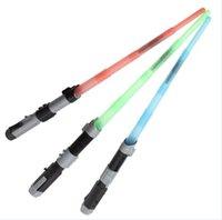 Wholesale 2016 Star Wars Electronic Light Saber cm retractable Laser Swords Darth Vader Anakin Skywalker Cosplay Lightsaber Children Kids gifts Toys