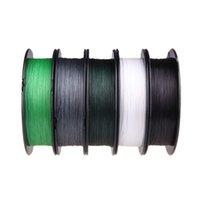 Precio de Trenzas grises oscuros-Alta calidad Super Strong 100M 30LB 0.2mm línea de pesca mar trenzada fuerte 4 Hilos verde oscuro / verde / gris / blanco / Negro