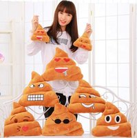 Wholesale Funny Emoji Plush Cushion Pillow Bolster Cojines Pillows Cushion Emoji Pillow Gift Cute Shits Poop Stuffed Toy Doll Christmas Present