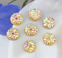 amber hair accessories - 500pcs lovely Bling rhinestone ab amber Gems Resin Cabochons Cell phone decor hair accessory for diy mm