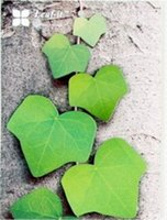 Wholesale 201506 Creative leaf Sticker Post It Note Paper green leaf Shaped Memo Pad Gift Office Supplies Notes Notepads S711M