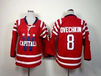 best boy gifts - Kids Capitals Winter Classic Alexander Ovechkin Red Ice Hockey Jerseys New Arrival Youth Winter Hockey Wears Best Christmas Gifts