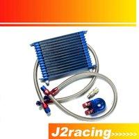 Wholesale J2 RACING STORE BLUE ROW AN AN UNIVERSAL ENGINE OIL COOLER KIT ALUMINUM HOSE END KIT PQY5128