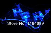 Cheap Wholesale-Free Shipping USB Port Laptop Cooling Pads Notebook Cool Mat With Blue Led Light Computer Cushion Well Packaging