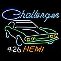 auto glass dealers - 17 quot x14 quot Big Dodge Challenger RT Hemi Auto Dealer design Real Glass Neon Light Signs Bar Pub Restaurant Billiards Shops Display Signboards