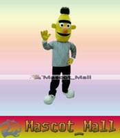Wholesale MALL45 Custom Character Sesame Street Bert Mascot Cartoon Costumes Party Adult Size Fancy Dress Carnival Halloween Thanksgiving Christmas