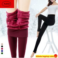 Wholesale S XL Hot new fashion women s autumn winter high elasticity and good quality leggings thick velvet pants fitness plus size