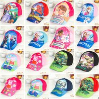 baby sports jerseys - children s cartoon hats Frozen Ninja kids caps Jersey Girl Hats Spider Man Sofia caps baby Princess hat Sports pig cap