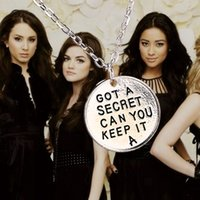 little girl jewelry - 2015 new arrival Hot Movie New Pretty Little Liars Got A Secret Can You Keep It Necklace Pendant Jewelry For Girls Charms