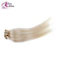Wholesale Blonde clip in extensions Brazilian human hair amazing clip hair extensions by DHL