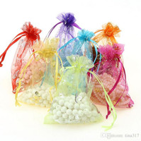 Favor Bags Organza Rectangle New Organza Jewelry Gift Wedding Gift Bag with Mixed Color Hot stamping hearts butterfly pearl yarn bags Candy bag Free shipping 1512