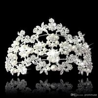 Rhinestone/Crystal bridal hair ornament - Top Quality Luxury Queen Wedding Bridal Tiaras Jewelry Bling Crystal Hair Ornaments Hair Accessories EM01148