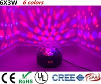 Wholesale CREE Led W colors Channel DMX512 Control Digital LED DJ RGBW Crystal Magic Ball Effect Light DMX Disco DJ Stage Lighting