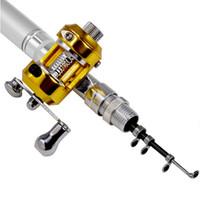 Wholesale Outdoor Mini Portable Pocket Fish Telescopic Pen Aluminum Alloy Fishing Rod Pole Reel