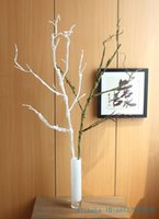 Wholesale 1 Beautiful Artificial CM inch Long Soft Plastic Dried Tree Branch Plant Wedding Home House Decoration F306
