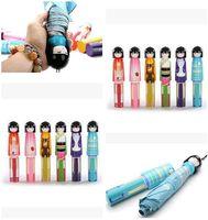 advertise fashion - 6 Styles Kokeshi Doll Umbrella Fashion Hot style Cartoon Folding Umbrellas for Rain Christmas Gifts umbrella DHL Dhgate