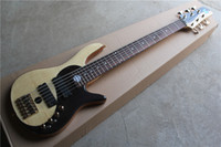 Wholesale 6 String Electric Bass with Gold hardwares and Taiji Pattern and Rosewood Fretboard and Can be Changed