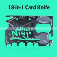 Cheap Multi Purpose Tool 18 Tools In 1 Wallet Pocket Outdoor Travel Survival Camping Credit Card Knife