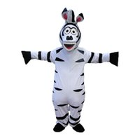 adult zebra costumes - High quality Zebra Mascot Cartoon Animal Mascot Costumes Halloween Costume Fany Dress Adult Size