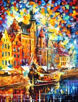art dock - Landscape Modern Painting old dock art on canvas High quality Handcrafted