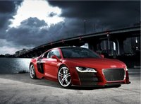 audi posters - Audi R8 Red Sport Car music Home Decoration Wall Sticker Print Stylish Retro Decor Nice Print Poster x75cm KO
